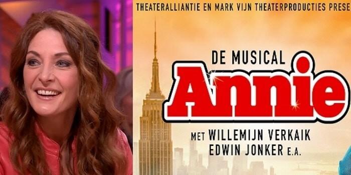 Ook Willemijn Verkaik in de musical Annie