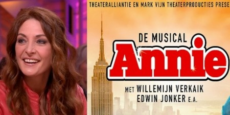 Ook Willemijn Verkaik in de musical Annie