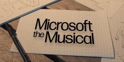 Microsoft the Musical. Zo ziet dat er uit