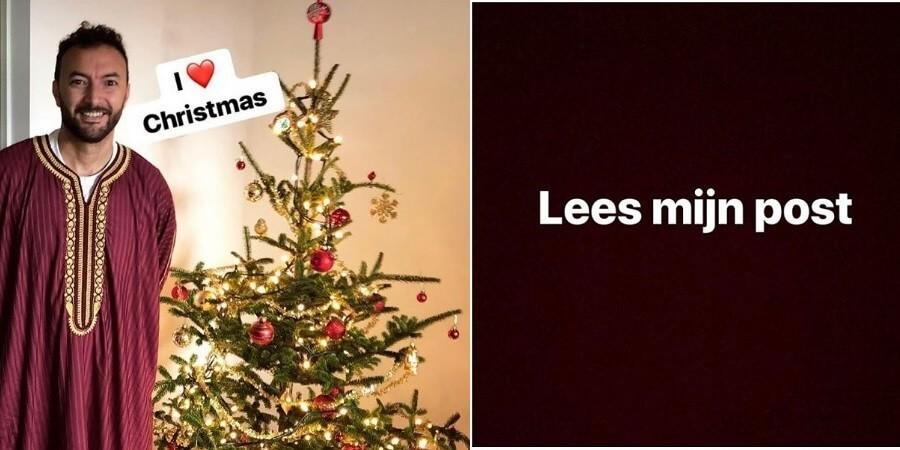 Nasrdin Dchar bedolven onder haatreacties omdat hij bij kerstboom poseert