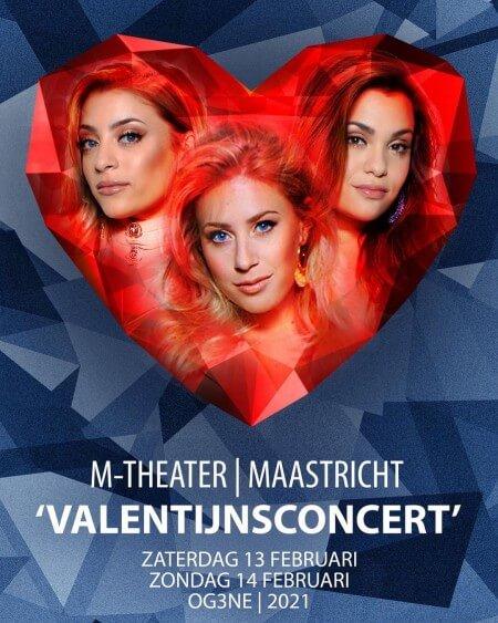OG3NE geeft geen kerstshows maar valentijnsconcerten