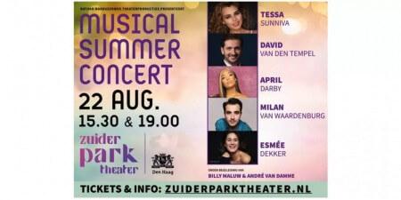 Zomers genieten met de muzikale buitenvoorstelling Musical Summer Concert