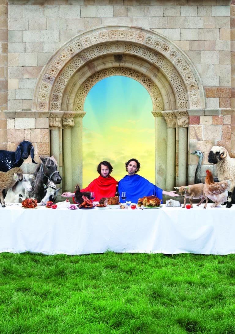 Campagnebeeld George en Eran worden veganisten - Foto Curly Straight