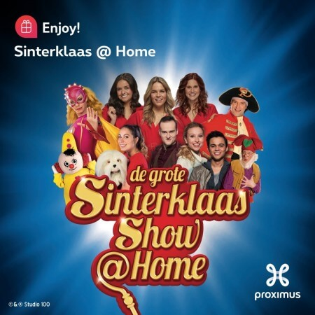 Kijk gratis naar De Grote Sinterklaasshow van Studio 100