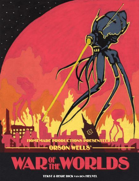 Chaos rondom hoorspel War Of The Worlds voer voor nieuw theaterstuk
