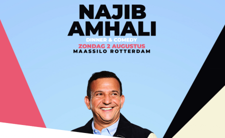 Najib Amhali geeft 'dinner & comedy' show