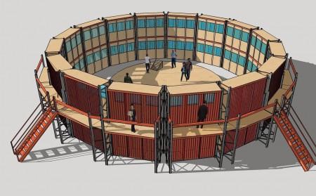 Warme Winkel bouwt Peepshow theater voor de hete zomermaanden