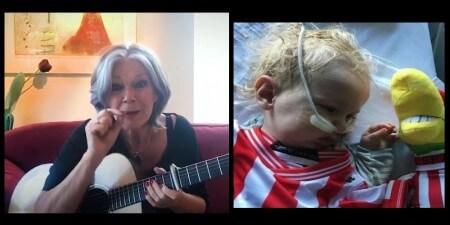Lenny Kuhr geeft livestream-concert om ernstig zieke baby Jayme te redden!
